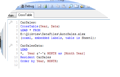 cross table – Qlikview « Learn Qlikview